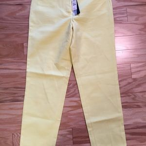 Talbots yellow signature ankle pants size 2 NWT
